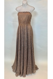 PE DE CHUMBO COPPER EXQUISITE YARN STRAPLESS DRESS - Product Mini Image