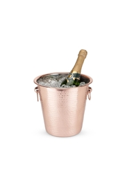 True Fabrications Copper Ice Bucket - Front full body