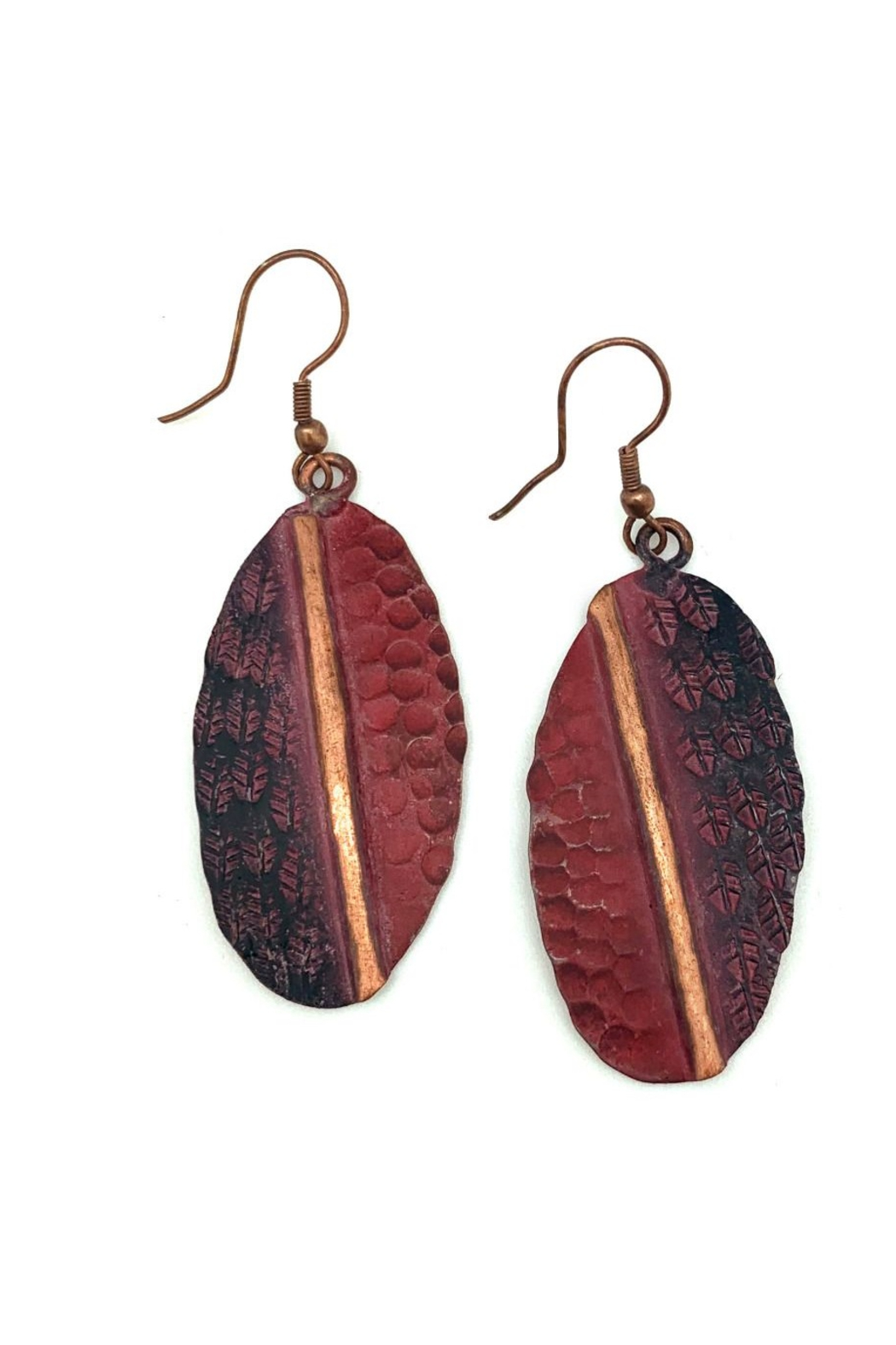 Anju Handcrafted Artisan Jewelry Copper Patina Earrings - Main Image