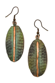 Anju Handcrafted Artisan Jewelry Copper Patina Earrings - Product Mini Image