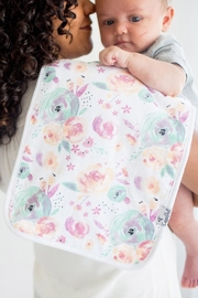 Copper Pearl Bloom Burp Cloths - Front full body