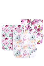 Copper Pearl Bloom Burp Cloths - Front cropped