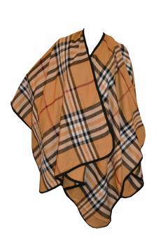 Shoptiques Product: Tan Fashion Poncho