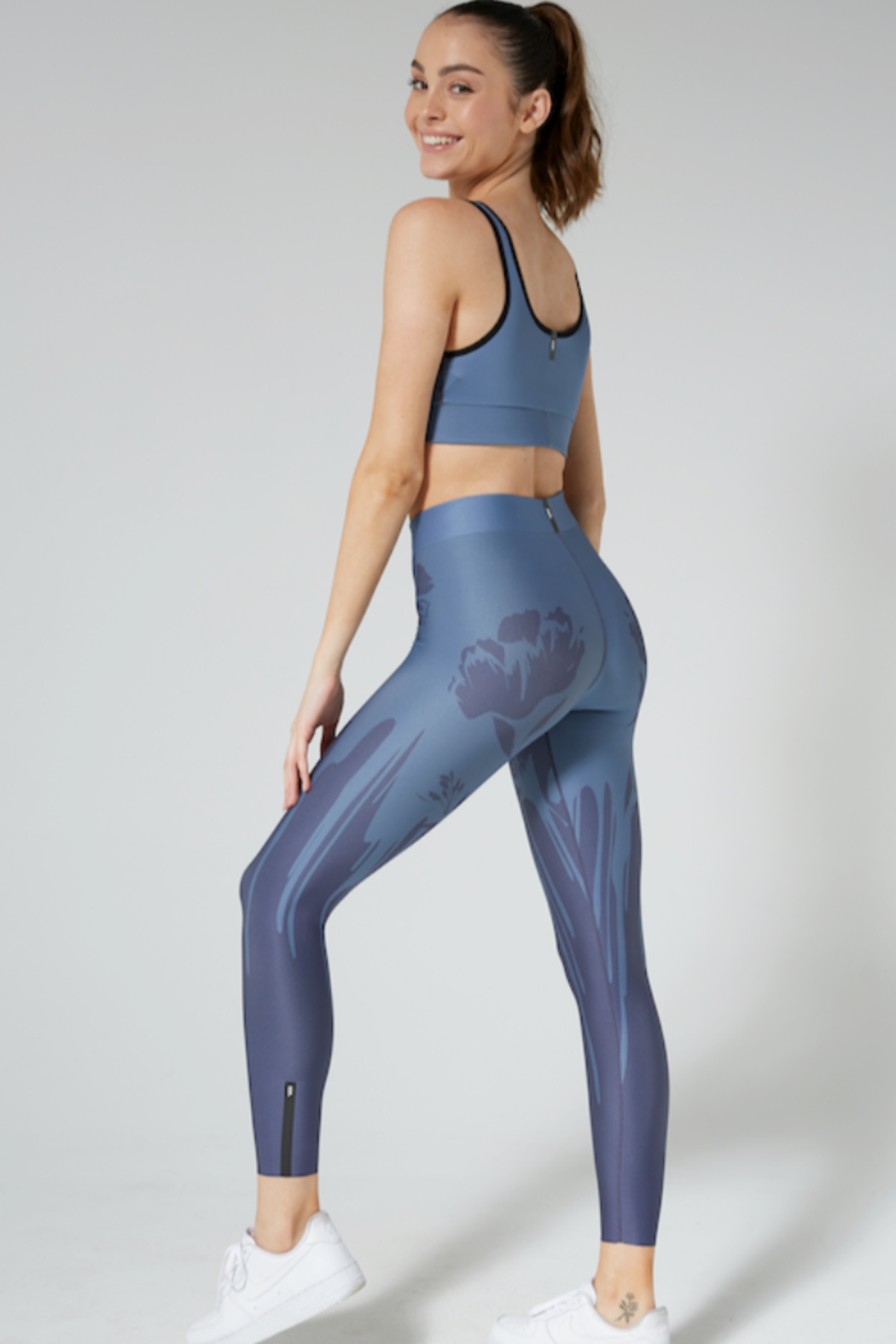 cor by ultracor Cor by UltraCor Navy Floral Legging - Main Image