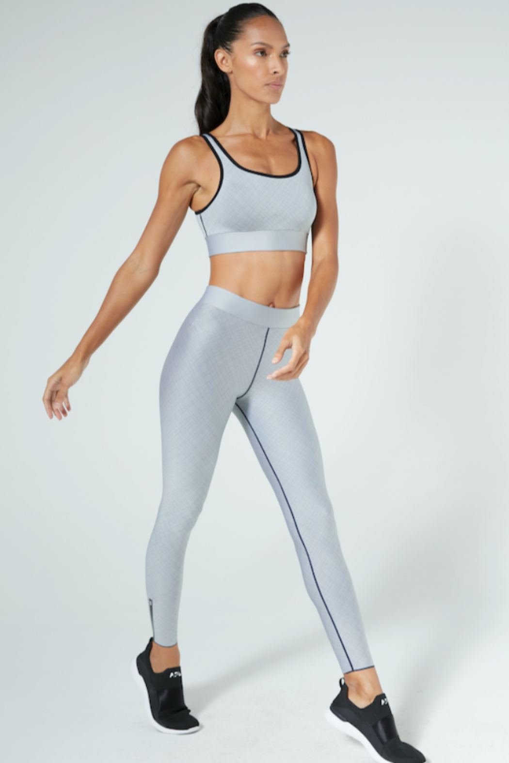 cor designed by ultracor Cor designed by Ultracor slate grey legging with black pipping - Main Image