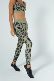 cor designed by ultracor Cor designed by Ultracor Ultra cool Graphic Leopard printed legging - Front cropped