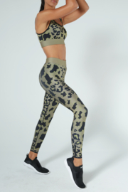 cor designed by ultracor Cor designed by Ultracor Ultra cool Graphic Leopard printed legging - Front full body