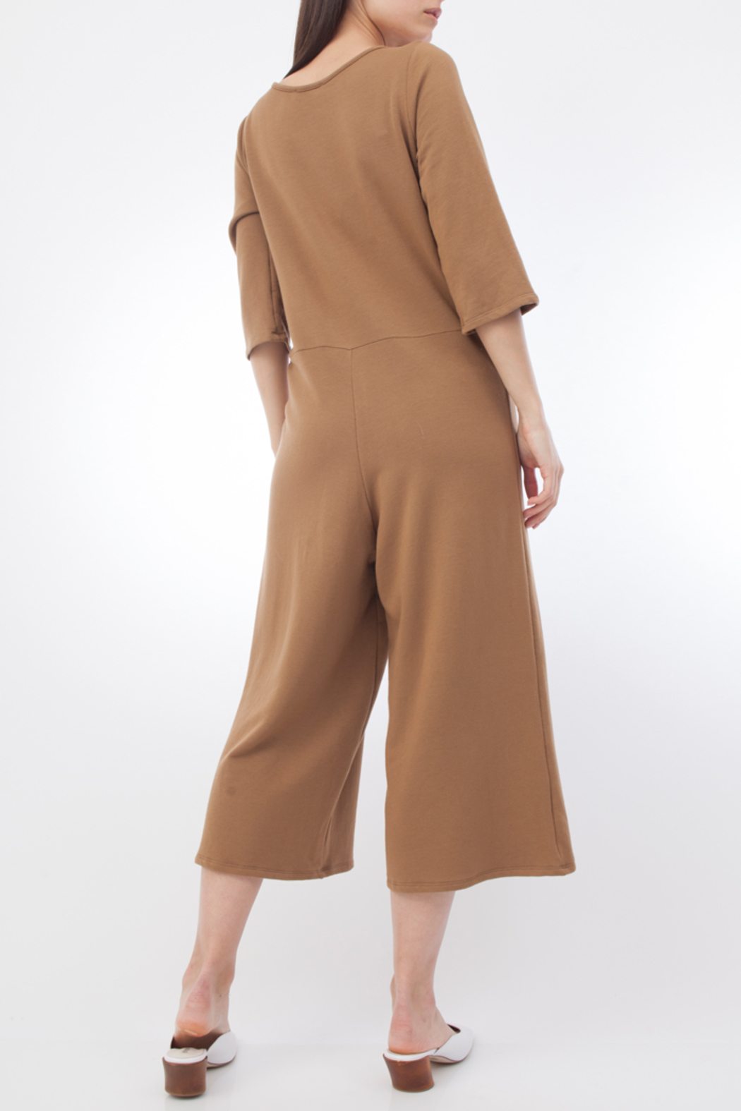 Corinne CORA WRAP CROPPED JUMPSUIT - Front Full Image