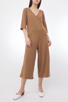 Corinne CORA WRAP CROPPED JUMPSUIT - Product List Image