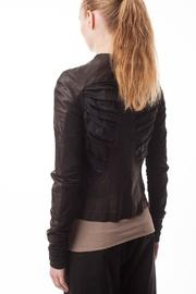 coragroppo Black Leather Jacket - Side cropped