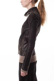 coragroppo Black Leather Jacket - Front full body