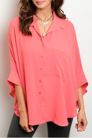 rokoko Coral Buttons Blouse - Product Mini Image