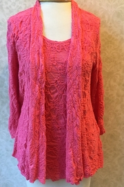 Sno Skins Textured Coral cardigan, 3/4 sleeves. - Product Mini Image