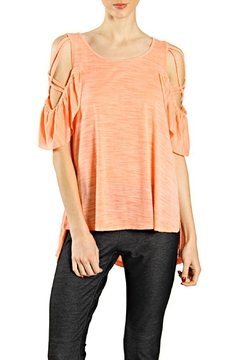 Shoptiques Product: Coral Coldshoulder Top
