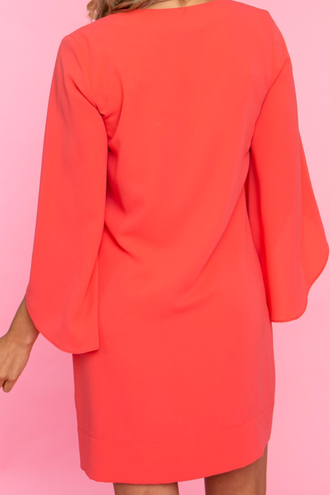 Crosby by Mollie Burch Coral dress - Front Full Image