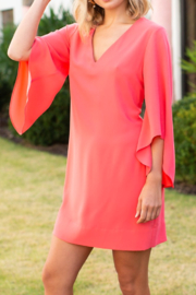 Crosby by Mollie Burch Coral dress - Front cropped
