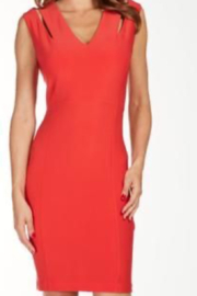Frank Lyman Coral dress with stylish cut-out slits on shoulders. - Product Mini Image