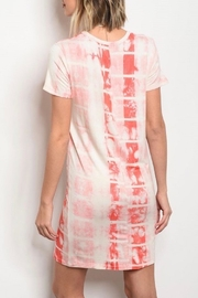 Always Me Coral Dye Dress - Front cropped