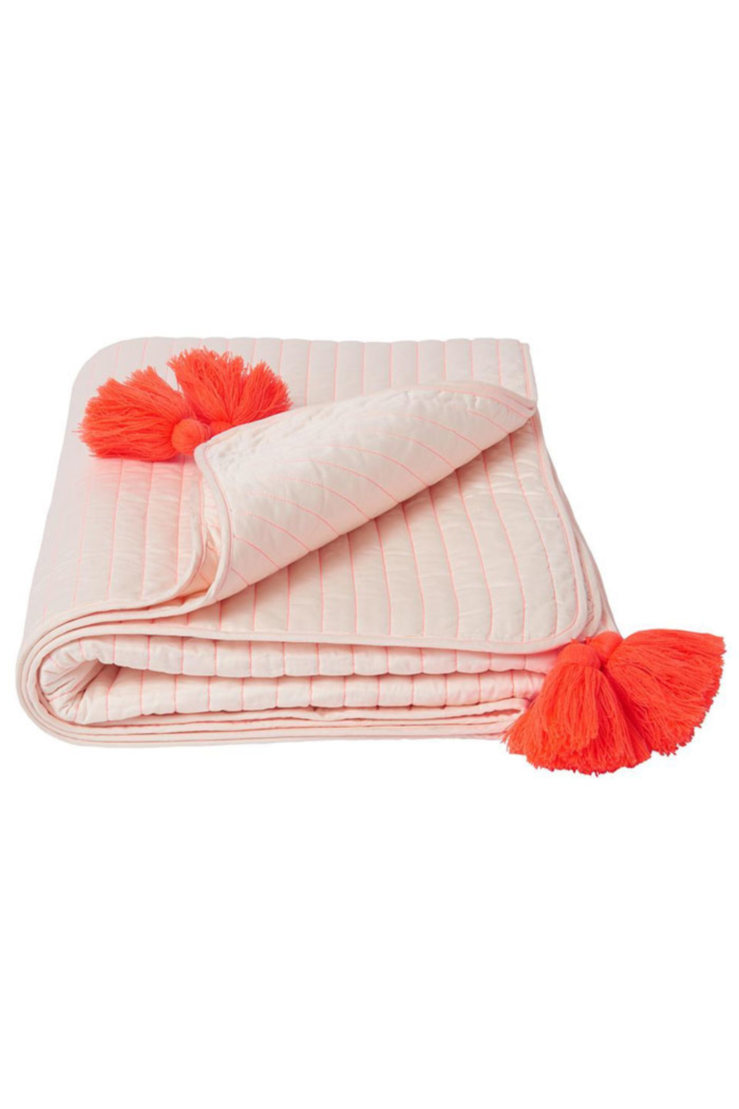 Meri Meri Coral Embroidered Quilt - Front Cropped Image