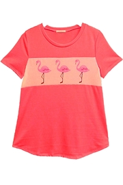 12pm by Mon Ami Coral Flamingo Top - Product Mini Image