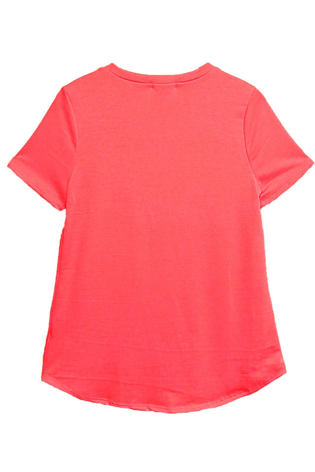 12pm by Mon Ami Coral Flamingo Top - Front Full Image