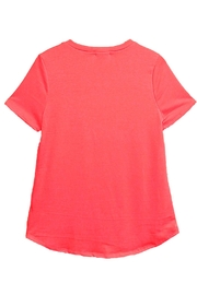 12pm by Mon Ami Coral Flamingo Top - Front full body