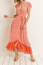 Le Lis Coral Floral Maxi-Dress - Front full body