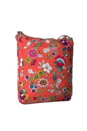 Vera Bradley Coral Floral Triple-Zip - Front full body