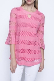 Picadilly Coral Geometric Top - Product Mini Image