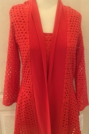 Frank Lyman Coral open weave cardigan - Product Mini Image