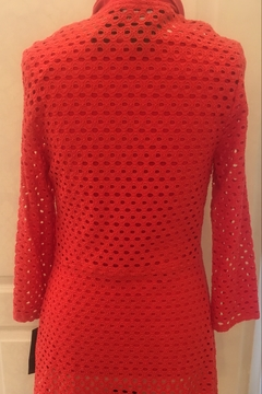 Frank Lyman Coral open weave cardigan - Alternate List Image