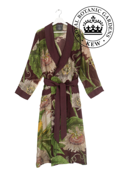 Two's Company Floral Viscose Robe Gown with Removable Waist Tie Closure - Product List Image