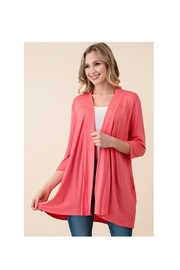 Vision Coral Pink Cardigan - Product Mini Image