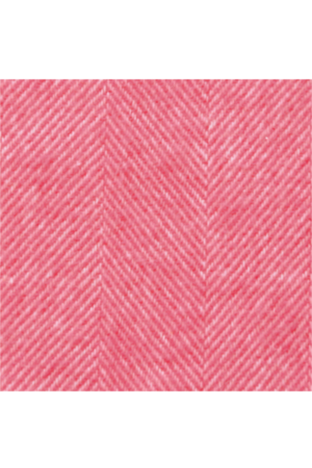The Birds Nest CORAL PINK ITALIAN HERRINGBONE THROW - Front Full Image