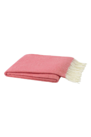 The Birds Nest CORAL PINK ITALIAN HERRINGBONE THROW - Product Mini Image