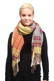 Lets Accessorize Coral Plaid Scarf - Product Mini Image