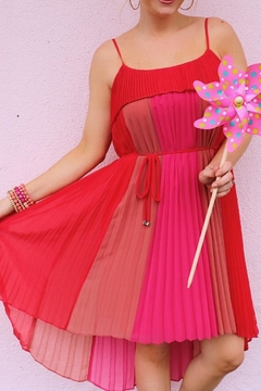 Shoptiques Product: Coral Pleated Dress