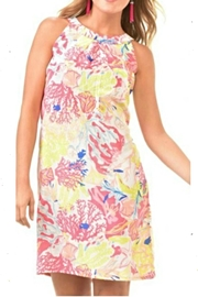 Charlie Paige Coral Print Dress - Product Mini Image