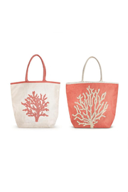 Two's Company Coral Reef Beaded Tote Bag - Product Mini Image