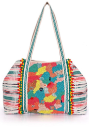 America & Beyond Coral Reef Embellished Tote - Product Mini Image