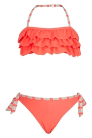 Snapper Rock Coral Ruffle Bikini-Set - Front cropped