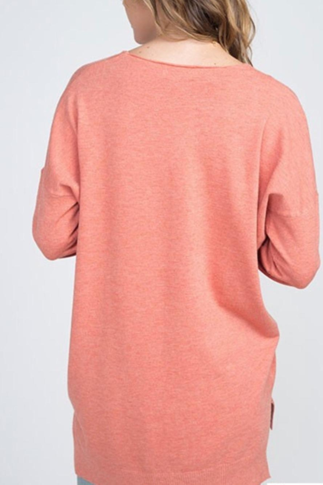 Dreamers Coral Soft Sweater - Front Full Image