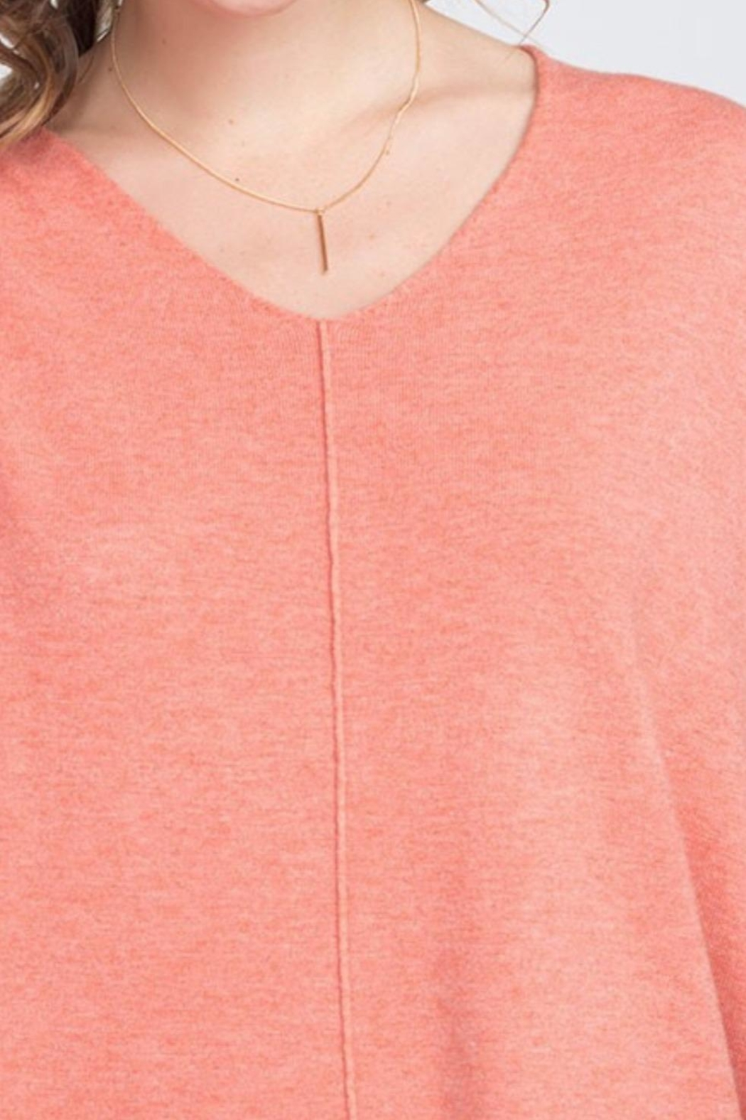 Dreamers Coral Soft Sweater - Side Cropped Image