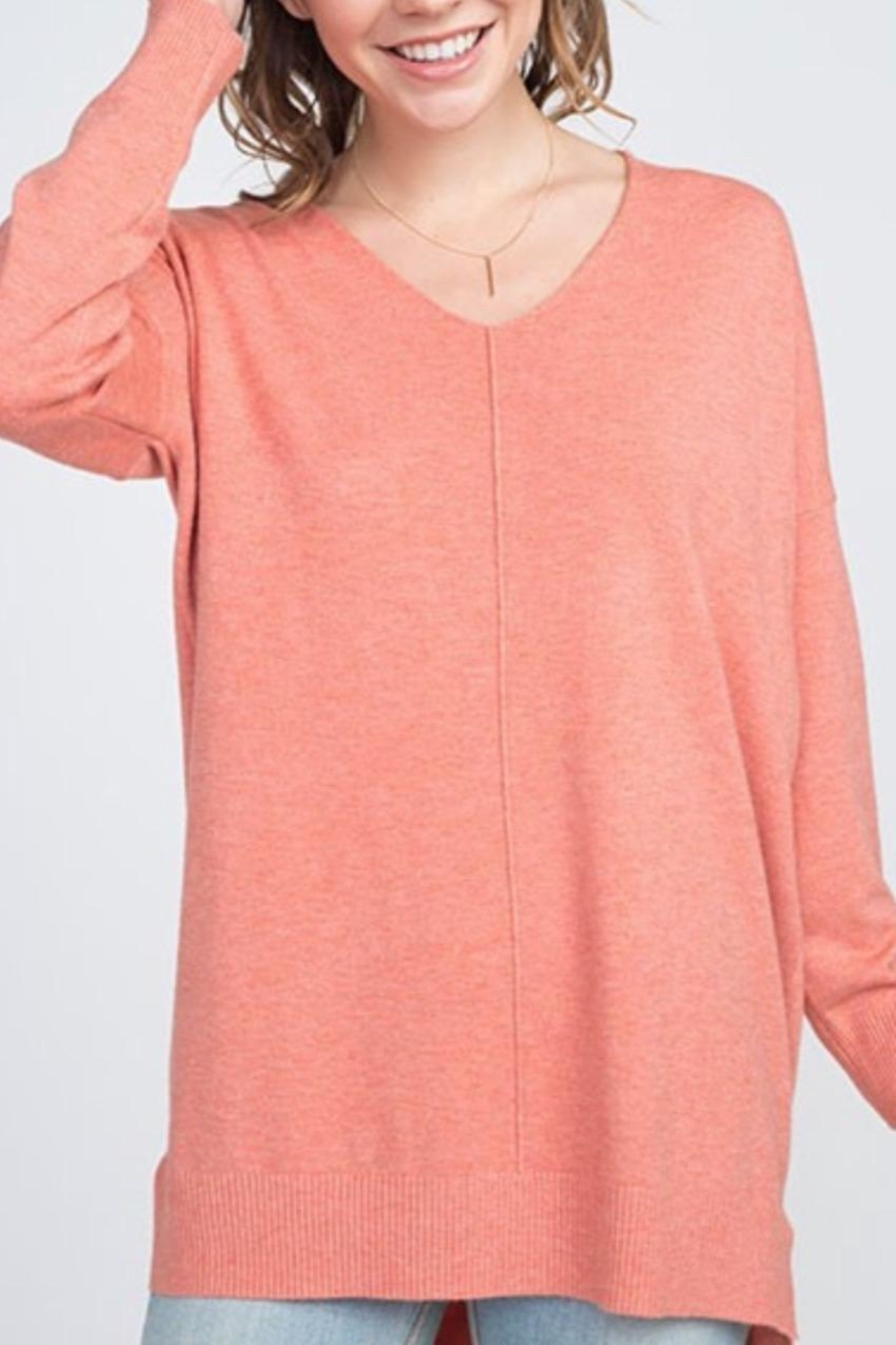 Dreamers Coral Soft Sweater - Main Image
