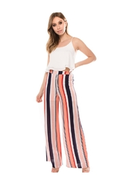 Dazz Coral Stripe Pants - Product Mini Image