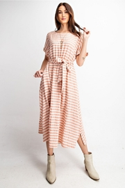 Easel  Coral Striped Dress - Product Mini Image