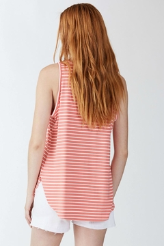 Another Love Coral Striped Tank - Alternate List Image