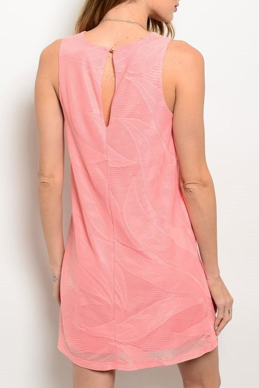 Adore Clothes & More Coral Summer Dress - Front Full Image