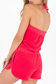 Others Follow  Coral Terry Romper - Side cropped