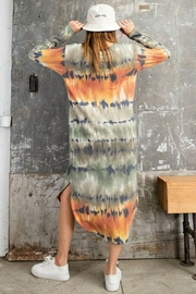 Easel  Coral Tie Dye - Side cropped
